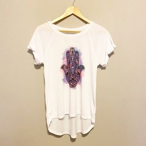 Freeze White Watercolor Graphic Tee